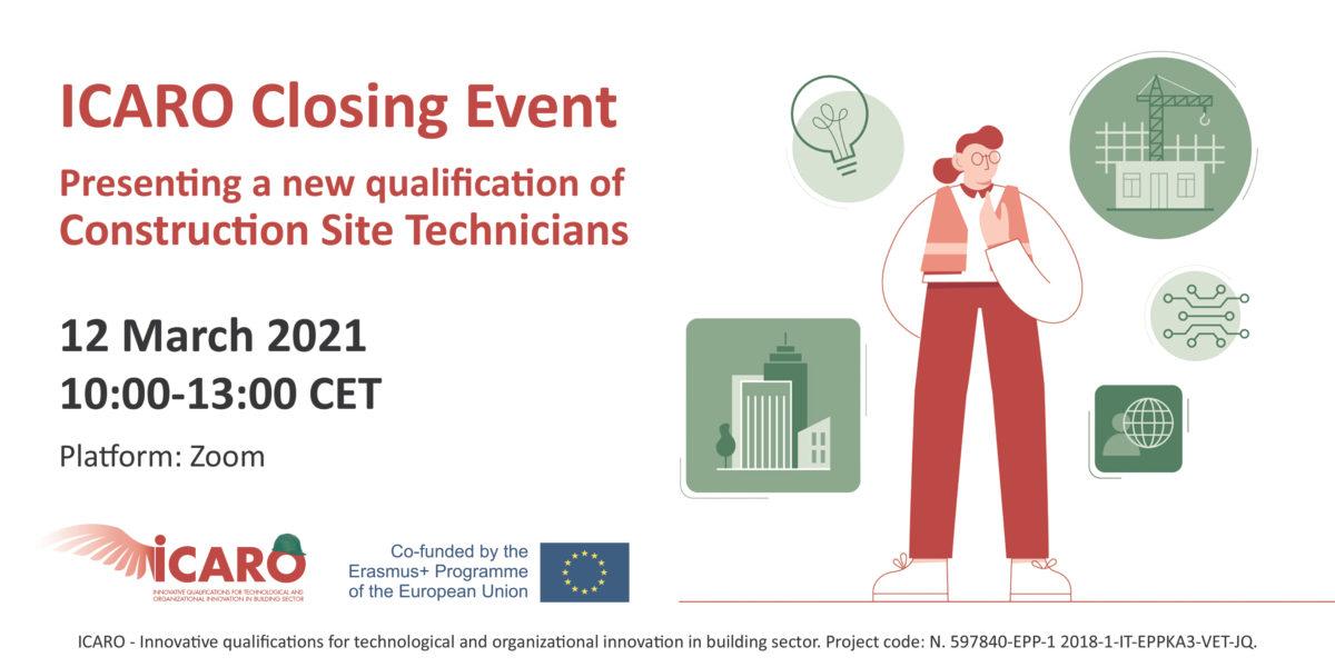 Το Ευρωπαϊκό Συμβούλιο Αρχιτεκτόνων (ACE/CAE) εταίρος του Erasmus+ project ICARO-Closing Event