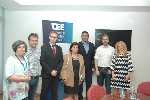 Συνάντηση στο ΤΕΕ με τον περιφερειακό διευθυντή του παγκοσμίου συμβουλίου ενέργειας